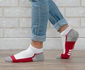 (男襪) 專業抗菌襪 抗菌除臭襪 吸濕排汗除臭襪  抗菌氣墊短襪-三線紅【M20003-04】Nacaco