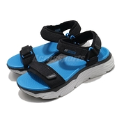 Skechers 涼鞋 Max Cushioning Sandal Elapidae 男鞋 黑 藍 厚底 跑鞋中底 休閒鞋【ACS】 229010BKBL