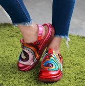 STAR*絢麗繽紛/高貴搖滾金屬皮面/包拖兩用-THE ONE 氣墊鞋 (全牛皮)-TS03445 棒棒糖