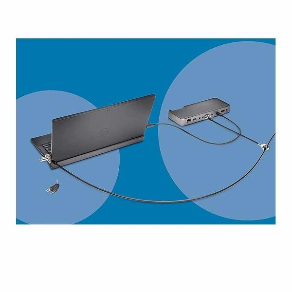 Kensington 電腦鎖 N17 Keyed Dual Head Laptop Lock for Dell Devices (K67995WW), Black, Silver [2美國直購]