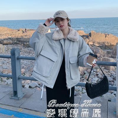 羽絨外套女 2020冬季新款羽絨服女棉襖羊羔毛外套棉服小個子韓版外套棉衣 17店 新年特惠