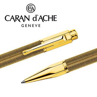 CARAN d'ACHE 瑞士卡達 VARIUS 維樂斯鎧甲原子筆(金) / 支