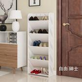 鞋櫃簡易鞋架家用多層鞋櫃客廳簡約歐式雕花防塵經濟型宿舍組裝置物架1件免運