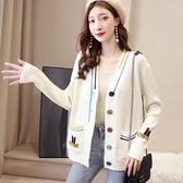 針織開衫 春秋裝薄款針織衫女士毛衣寬鬆外搭開衫年新款慵懶風外套上衣