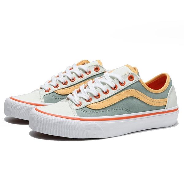 VANS 休閒鞋 板鞋 STYLE 36 DECON SF 白底 綠 橘黃 撞色 女(布魯克林) VN0A3MVL2VQ
