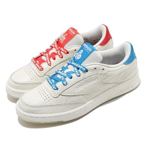 Reebok 休閒鞋 Club C 85 米白 紅 藍 女鞋 Amusement Park Chalk 復古 運動鞋 【ACS】 FY4730