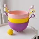 水果籃 北歐風格卡通小怪獸果籃可愛怪物洗菜盆瀝水籃家用客廳水果盤網紅【快速出貨八折鉅惠】