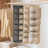 衣柜內衣襪子收納掛袋墻掛式宿舍神器布藝置物袋壁掛儲物懸掛掛兜 深藏blue