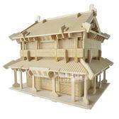 模型屋古典建筑diy成人手工制作小房子小屋子模型屋木頭拼裝小木屋玩具七夕節下殺89折