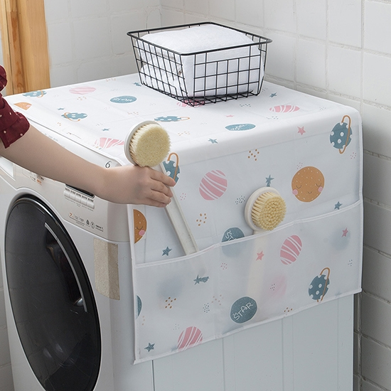 防塵罩 冰箱罩 洗衣機罩 收納袋 分格收納袋 防塵蓋布 迷幻系列 電器防塵罩【N239】米菈生活館