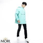 【MORR】Postshorti磁吸式反穿防水外套【復古藍】防水/透濕/透氣/戶外活動/自體收納