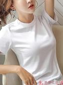 短袖T恤超火cec短袖t恤女裝2021新款潮純棉泫雅風半袖寬鬆韓版素色上衣夏  芊墨左岸 上新