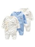 嬰兒連體衣春秋新生兒衣服純棉女0-3-6個月哈衣男爬爬服寶寶秋裝9 限時85折