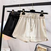 中大尺碼L-4XL原創實拍休閒短褲新款大碼短褲女高腰寬鬆顯瘦休閒闊腿短褲R26-8926