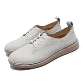 Clarks 休閒鞋 Hale Lace 白 米色 皮革 女鞋 【PUMP306】 CLF36001AC18