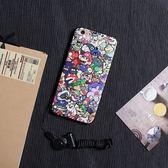 iPhone手機殼 可掛繩 瑪莉兄弟總匯 蠶絲紋矽膠軟殼 蘋果iPhone7/iPhone6 手機殼