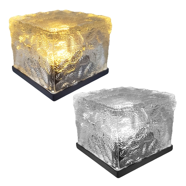 【3期零利率】全新 SE-103 太陽能戶外冰花地磚燈 自動亮燈 地埋燈 露營燈 氣氛桌燈 防水免佈線