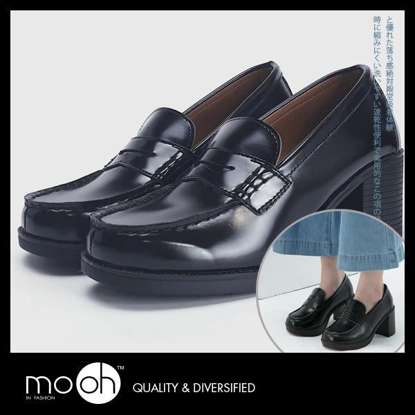 復古粗跟COSPALY制服鞋高跟樂福鞋 mo.oh (歐美鞋款)