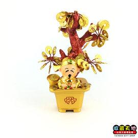 【收藏天地】台灣紀念品*神明守護擺飾-眾神包庇金錢樹∕禮品 小物 開運 保佑