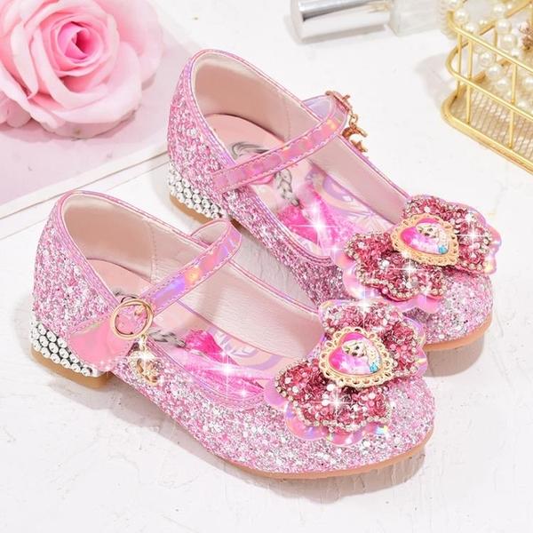 愛莎單鞋新款女童高跟鞋冰雪奇緣公主鞋春秋季兒童軟底小孩子皮鞋 小艾新品