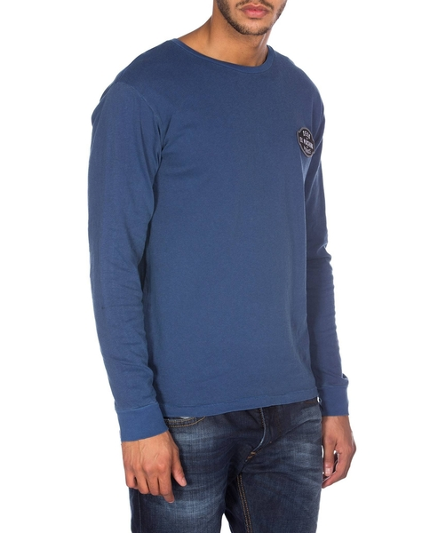 Deus Harring 經典布標 輪胎長袖上衣 - (藍)