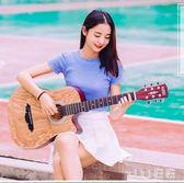 38寸初學者民謠木吉他學生男女款入門自學新手練習單板旅行樂器 nm3470 【VIKI菈菈】