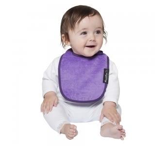 紐西蘭 Mum 2 Mum 機能型神奇口水巾圍兜-初生款-紫 吃飯衣 口水衣 防水衣