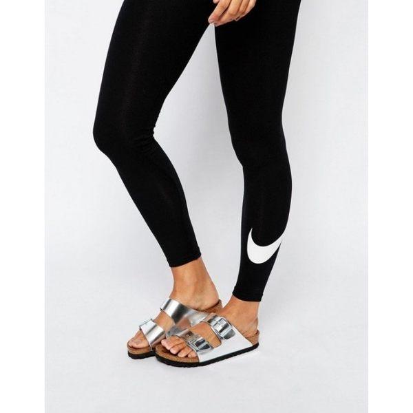 NIKE CLUB LEGGING 2 黑 白勾 內搭褲 緊身 壓力褲 健身 女款 815998-010