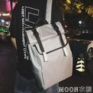 雙肩包男時尚潮流韓版高中學生書包女校園休閒大學生帆布男士背包 moon衣櫥