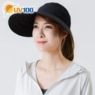 UV100 防曬 抗UV-寬帽簷休閒空頂帽-女