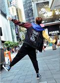 908/秋季新款原宿風薄款外套男bf 韓國撞色寬鬆情侶裝夾克     東川崎町