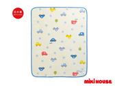 MIKI HOUSE 可愛滿版車車多用途毛毯(藍)