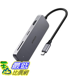 集線器 AK-A83430A1 Anker 7-in-1 Premium USB C Hub Adapter 60W Power Delivery, 4K USB C
