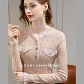 長袖羊毛內搭V領針織衫上衣(二色S-2XL可選)/設計家 I1D1636