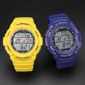 溫度電子手表測水溫游泳防水戶外運動多功能電子表男女青年腕表潮 新品