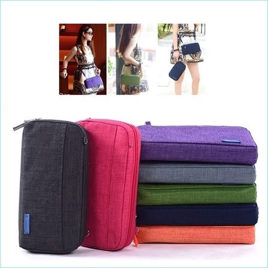♚MY COLOR♚韓版手提測背兩用包 斜背包 單肩包 手提包 護照包 證件包 存摺包 手機包 手拿包【Y42】