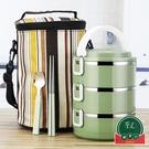 不銹鋼多層保溫飯盒分隔型日式桶可愛【福喜行】
