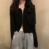 長袖針織衫毛衣女短款上衣外套開衫【少女顏究院】