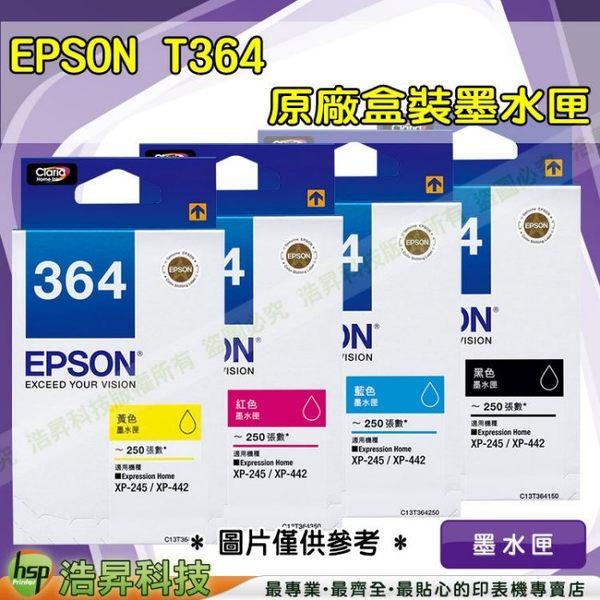 EPSON T364(364) 黑 原廠盒裝墨水匣 XP-245/XP-442 IAME137