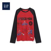 Gap男童 Marvel復仇者聯盟系列圓領長袖套頭T恤528222-正紅色