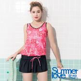【Summer Love 夏之戀】加大碼連身裙二件式泳裝(S19704)