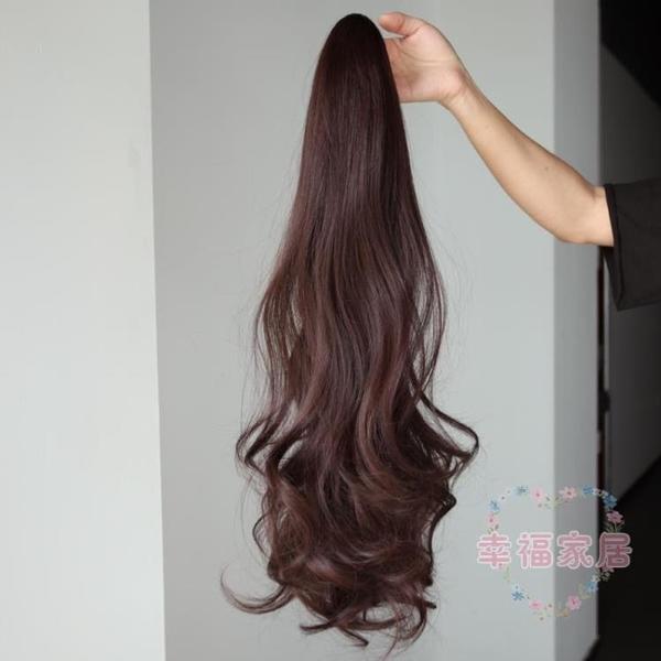 假髮女馬尾 長卷髮大波浪抓夾假辮子假髮 蓬鬆自然梨花卷髮