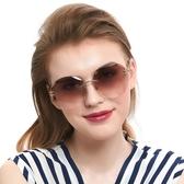 墨鏡女韓版潮復古無框太陽眼鏡