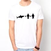 【Dirty Sweet】Shark & Man短袖T恤-3色 鯊魚+人 趣味 玩翻 幽默 現貨 390 gildan
