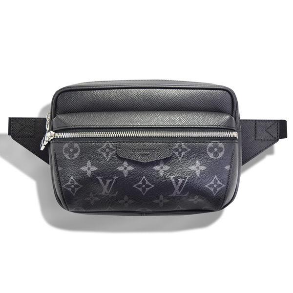 Louis Vuitton (LV) OUTDOOR 牛皮帆布拉鍊腰包(黑) M30245  國外專櫃購入《小婷子》
