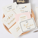 生日卡 聖誕卡片 賀卡 大理石紋 空白卡片 節日 祝福小卡 感謝卡 燙金卡片(附信封)【B005】慢思行