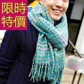 針織圍巾-羊毛簡約帥氣秋冬加厚男女圍脖2色61y50[巴黎精品]