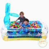 充氣泳池 波波池籃球架水池寶寶充氣床 游泳池 兒童戲水池jy【母親節禮物八折大促】