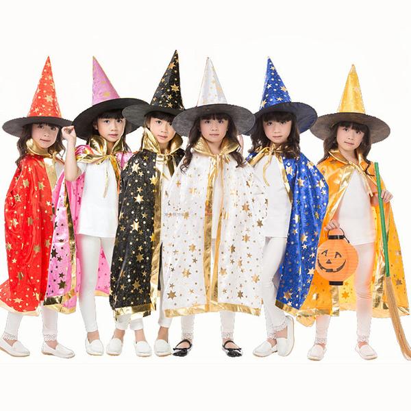 小朋友萬聖節 化妝舞會服裝 角色扮演9 (披風+帽子)
