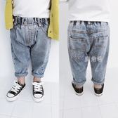 兒童牛仔褲 男童牛仔褲長褲寶寶休閒寬鬆褲子秋季兒童可開檔小腳褲潮 鹿角巷